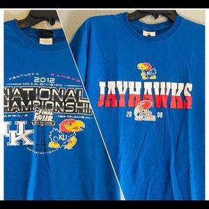 Men's NCAA Jayhawks shirt set (S)